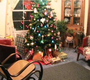 Christmas room interior decoration