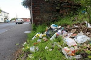 Rubbish page hall estate Sheffield