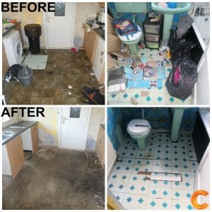 Before and after house clearance sheffield