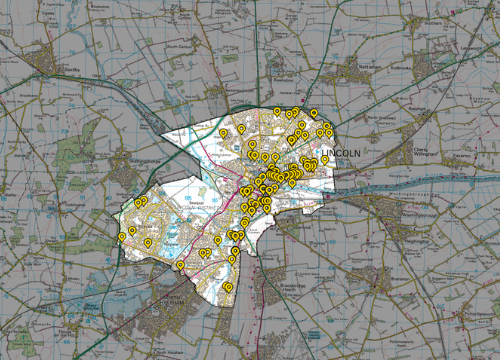 Lincoln-fly-tipping-map