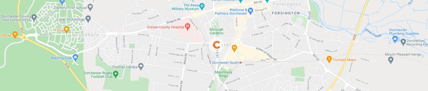 garden-clearance-Dorchester-map
