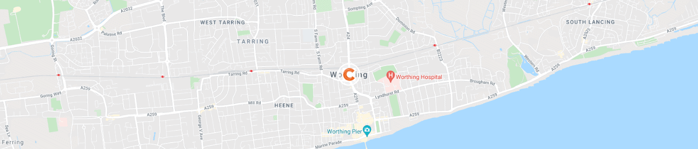 office-clearance-Worthing-map